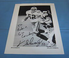 Dallas Cowboys Jim Schwantz Signed Autographed 8.5x11 Photo Purdue