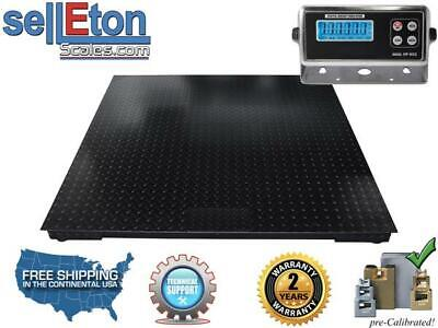 60 X 60 Selleton 5000Lb//1Lb 5X5 Floor Scale//Pallet Scale with Software /& USB!