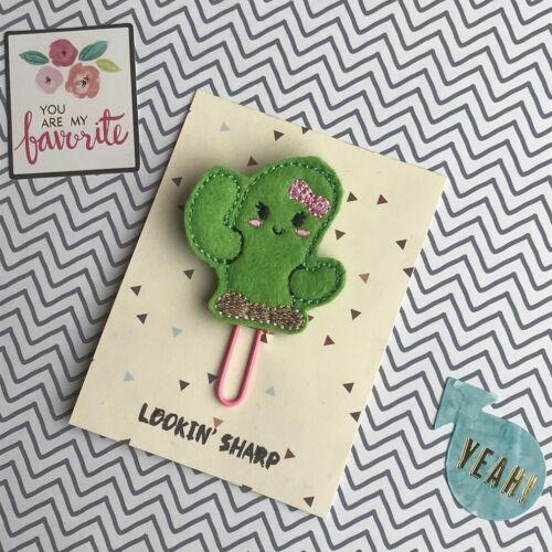Felt Cactus Paper Clip