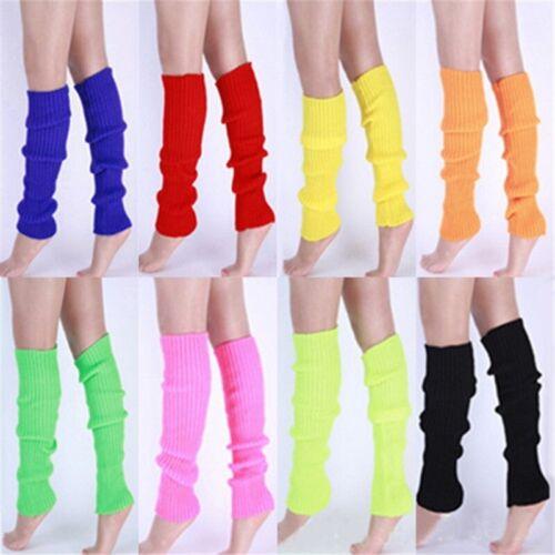 Women Winter Warm Knit Crochet High Knee Leg Warmers Leggings Boot Socks UK w7