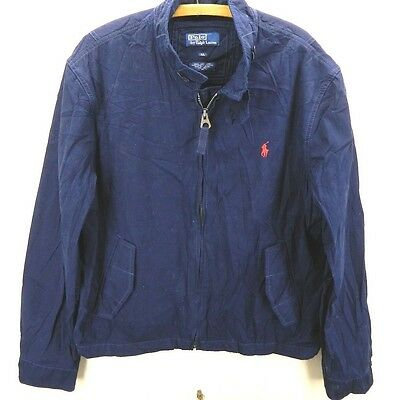 Utile 1990's Polo Ralph Lauren Molla / Giacca Vento Xl/ Thailandia/ Usato Elegante Nello Stile