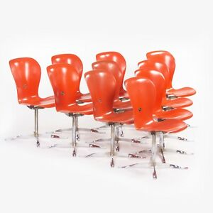 1974 Gideon Kramer Ion Chairs by American Desk Corp Fiberglass Sets of 6 8 10 12