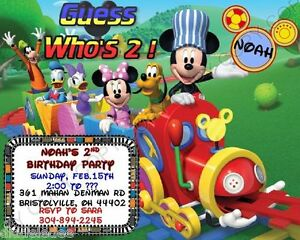 Details About Mickey Mouse Clubhouse Birthday Party Invitations W Env 8pk Personalize Chgs OK