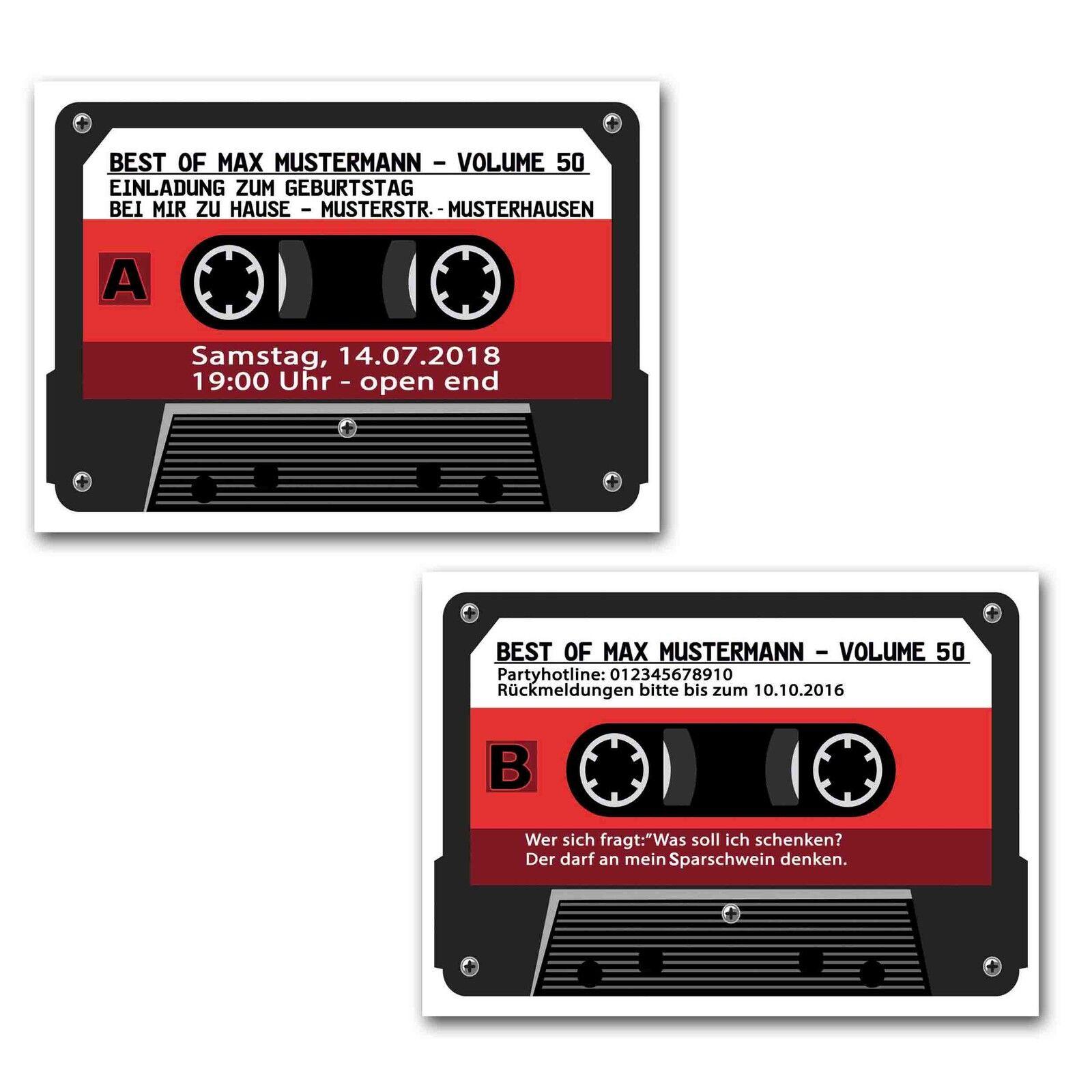 Lustig 30 40 50 Einladungskarten zum Geburtstag Musik-kassette  BLAU LILA 1965   Günstig    Der Schatz des Kindes, unser Glück