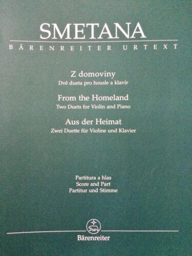Aus der Heimat Zwei Duette Smetana für Violine und Klavier