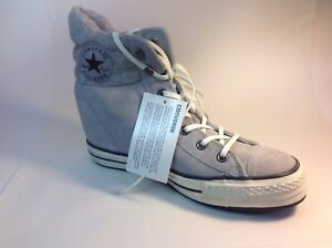 ebb63fe3def3 Image is loading Converse-544849C-Lucky-Stone-Hidden-Platform-Wedge-Grey-