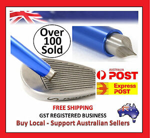 BLUE-GOLF-CLUB-IRON-WEDGE-GROOVE-GROOVER-SHARPENER-Dont-Buy-Cheap-Copies