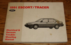 1991 ford escort mercury tracer wiring diagrams evtm manual 91 ebayimage is loading 1991 ford escort mercury tracer wiring diagrams evtm