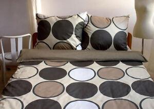 3 tlg mako satin bettw sche retro beige braun 155x220 extra lang berl nge ebay. Black Bedroom Furniture Sets. Home Design Ideas