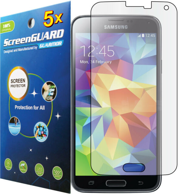 5x Clear LCD Screen Protector Guard Film Samsung Galaxy S5 S V i9600 SM-G900P