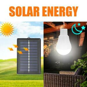 15W Outdoor LED Solar Tent Lamp Yard Portable Camping Bulb Light Rechargeable US