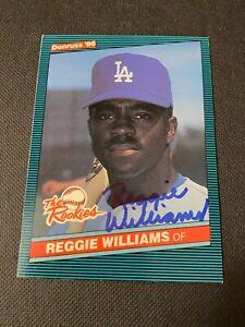 Reggie Williams Signed 1986 Donruss Card Auto Los Angeles Dodgers Autograph COA