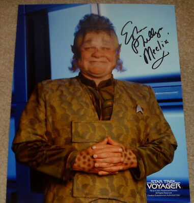 Television Candid Ethan Phillips Authentic Signed 8x10 Photo Autographed Star Trek Voyager Meelix Utmost In Convenience