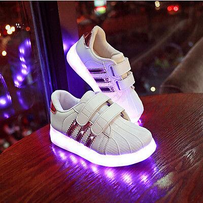 photos officielles ffda9 530e4 enfants Charge LED Lumière De Sport Basket Lumineuse Lacet Chaussure  Briller | eBay