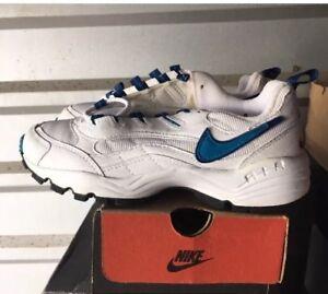 Vtg Nike Air Aegis White Blue 6 6.5 Womens cross trainer 1997 103037-141