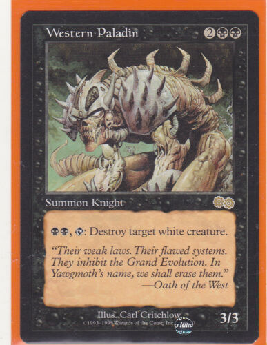 MTG Magic 1 x Urza/'s Saga Rare  WESTERN PALADIN  Creature Knight Never played