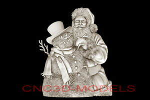 3D-Model-STL-for-CNC-Router-Artcam-Aspire-Merry-Christmas-Santa-Claus-D685