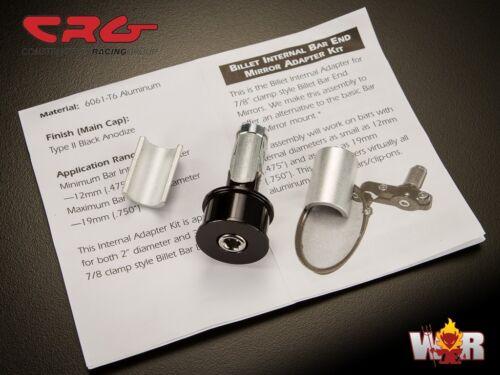 CRG 7/8 Billet Internal Bar End Mirror Adapter Mount For Arrow Hindsight LS
