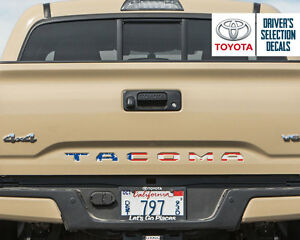 Toyota Tacoma Tailgate Usa Flag Vinyl Letter Decals