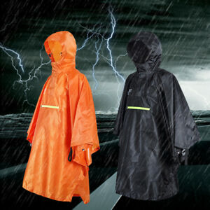 many choices of 2019 best hot-seeling original Details about Waterproof Rain Poncho Cycling Bicycle Raincoat Reflective  Strip Rainwear Coat
