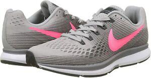 Nike-Air-Zoom-Pegasus-34-Women-039-s-Size-8-Gray-Pink-Running-Shoes-880560-006