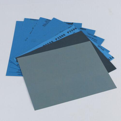 2//10Pcs Wet Dry Sandpaper Grit Sanding Sander Paper Abrasive Car Tool Supply Acc