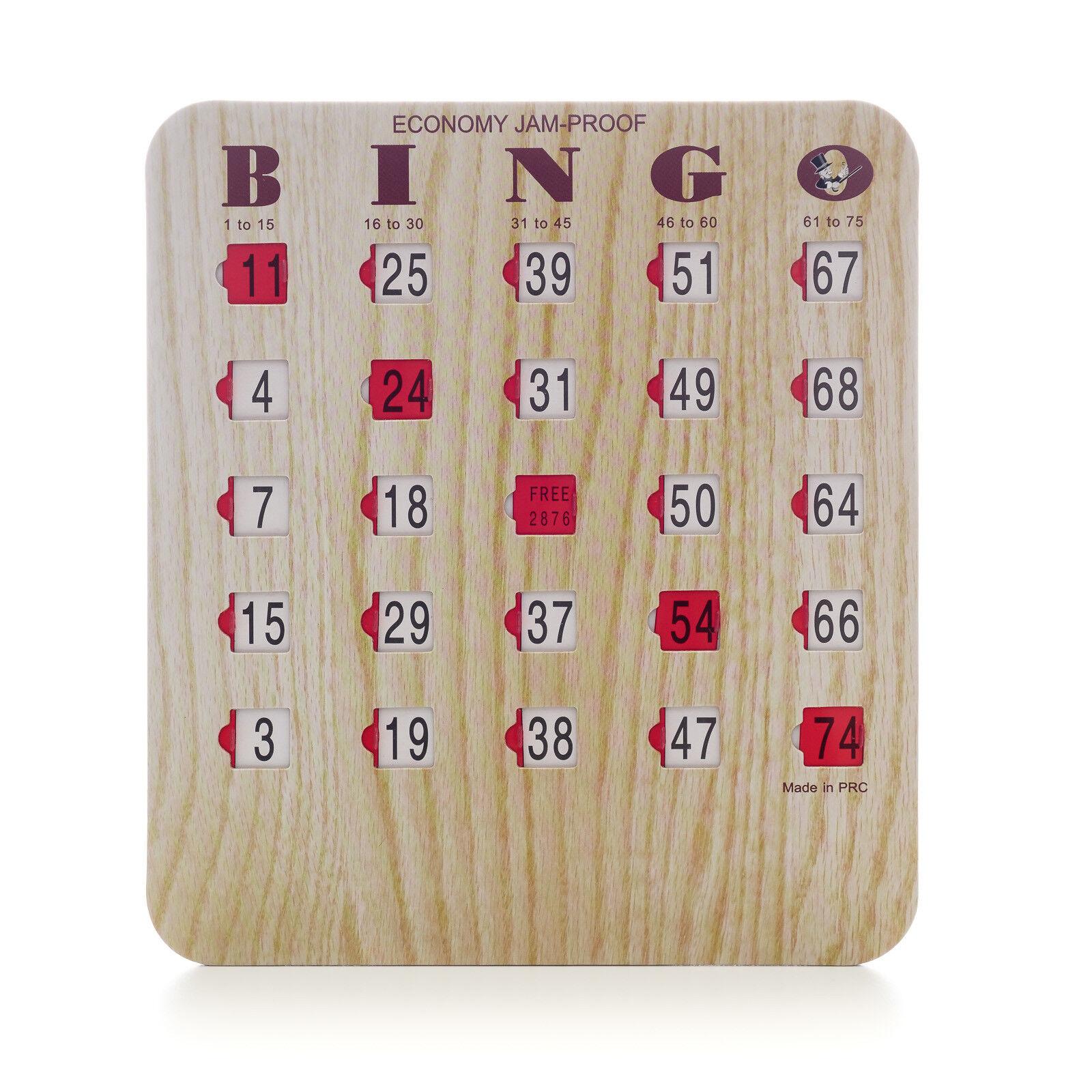 50 Nouveau Bingo Bois Grain Shutter Slide cartes - 5 Plis-objet Nº 65-0004