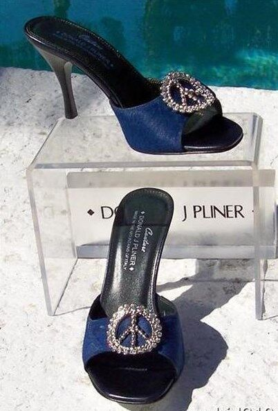 Donald Pliner Couture Hair Calf Leather Slide schuhe New 5.5 Peace Signature  325