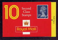 GB 1990 10 x 2nd CLASS STAMPS BARCODE BOOKLET HC4