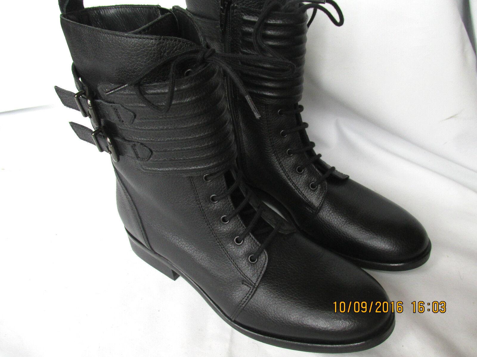 NEW Clarks Damenschuhe LANCE Leder Ankle Stiefel BLACK MINSTER LANCE Damenschuhe Lace Up Buckle 73d376