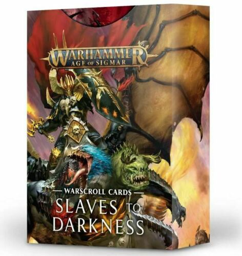 Games Workshop Warhammer Chaos AoS Slaves to Darkness Warscroll Cards Deutsch