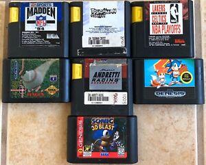 Lot-of-7-Sega-Genesis-Games-Madden-94-Sonic-2-Sonic-3D-Blast-amp-More