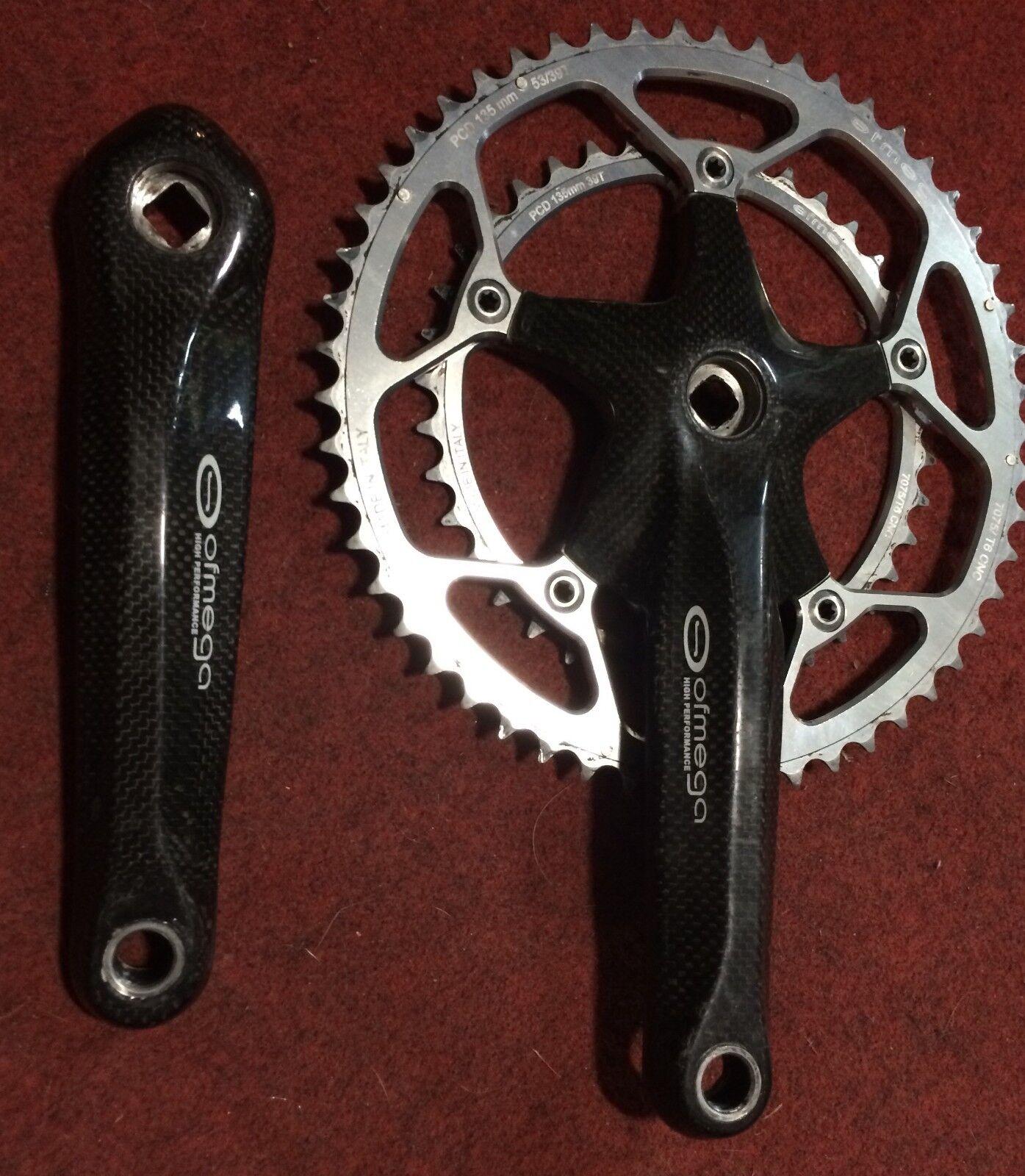 Crankset Bike Ofmega Autobon 53-39 180 Square Drive Crankset Bike