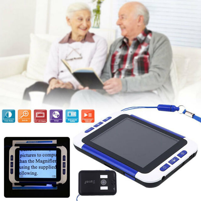 """3.5"""" 2x32X Video Digital Low Vision Magnifier Electronic Reading Aid /Color BRO"""