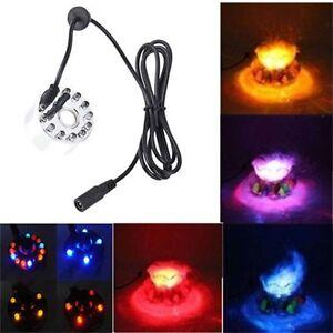 12 LED light Ultrasonic Mist Maker Fogger Water Fountain Pond Indoor Outdoor BG