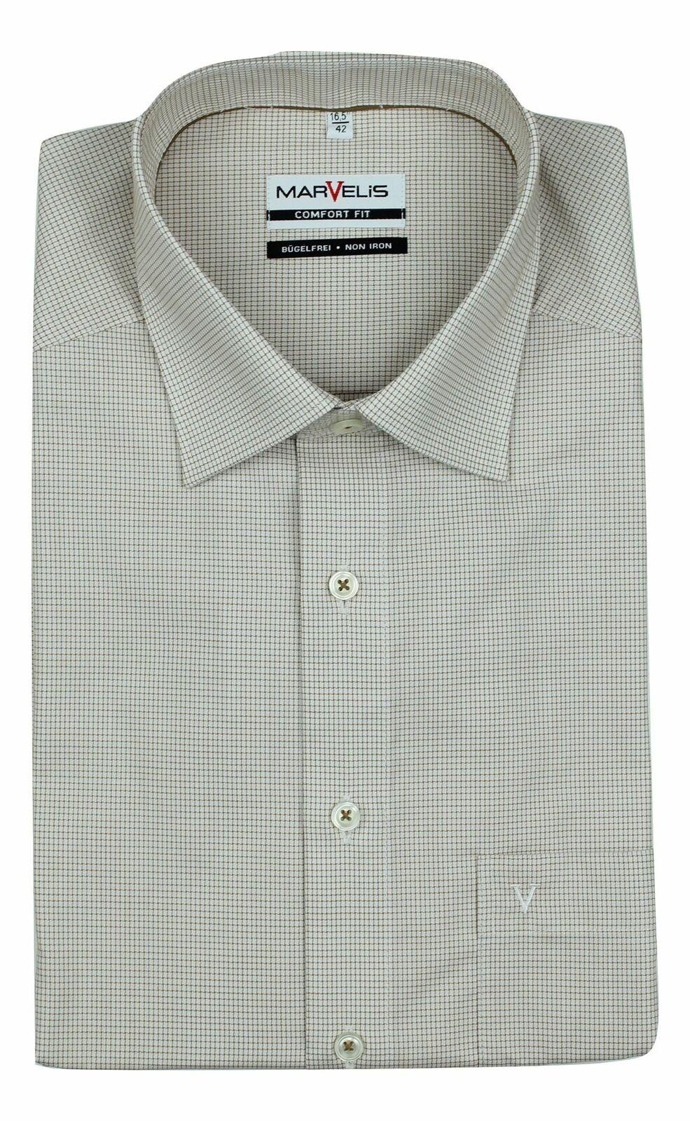 Beige Checkered Spread Collar