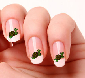 Image Is Loading 20 Nail Art Decals Transfers Stickers 342 Turtle