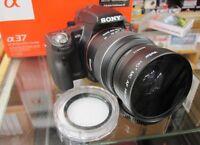 55MM Wide Angle Lens for Sony Alpha a77 a57 a300 a100 a700 a900 a230 a390 A7 UV