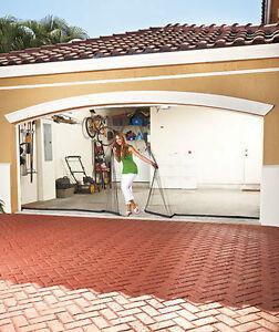 Single Double Garage Mesh Screen Door Magnetic Close Keep