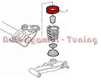 ANELLO GOMMA SUPERIORE MOLLA POSTERIORE FIAT PUNTO F.L.2003/>2010  MAL 14816//1
