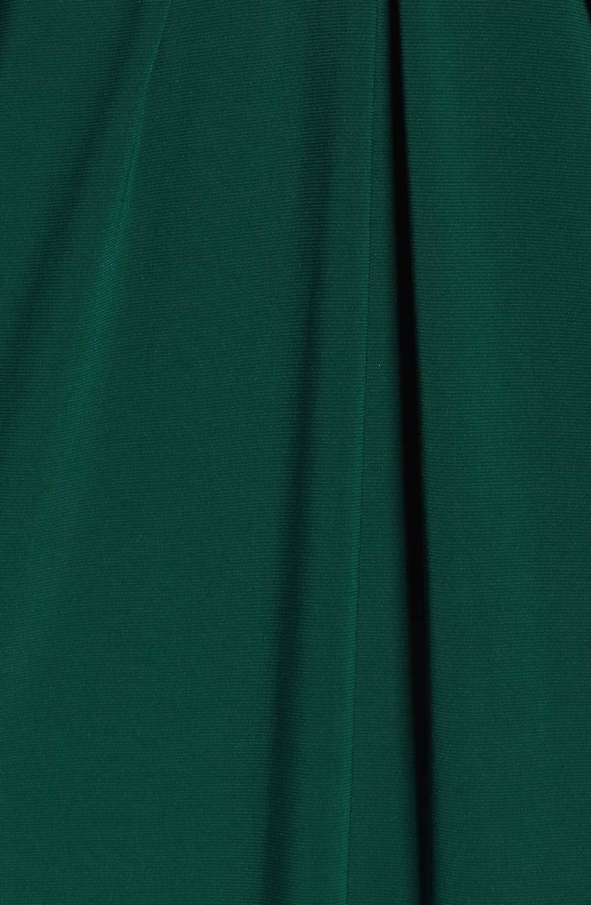 NEW NEW NEW ELIZA J Hunter Green gold Beaded Waist A-Line Stretch Matte Jersey Gown 8 US 7a167d