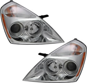 Details About Halogen Headlights Headlamps Embly W Bulb New Pair Set For 2007 Kia Sedona
