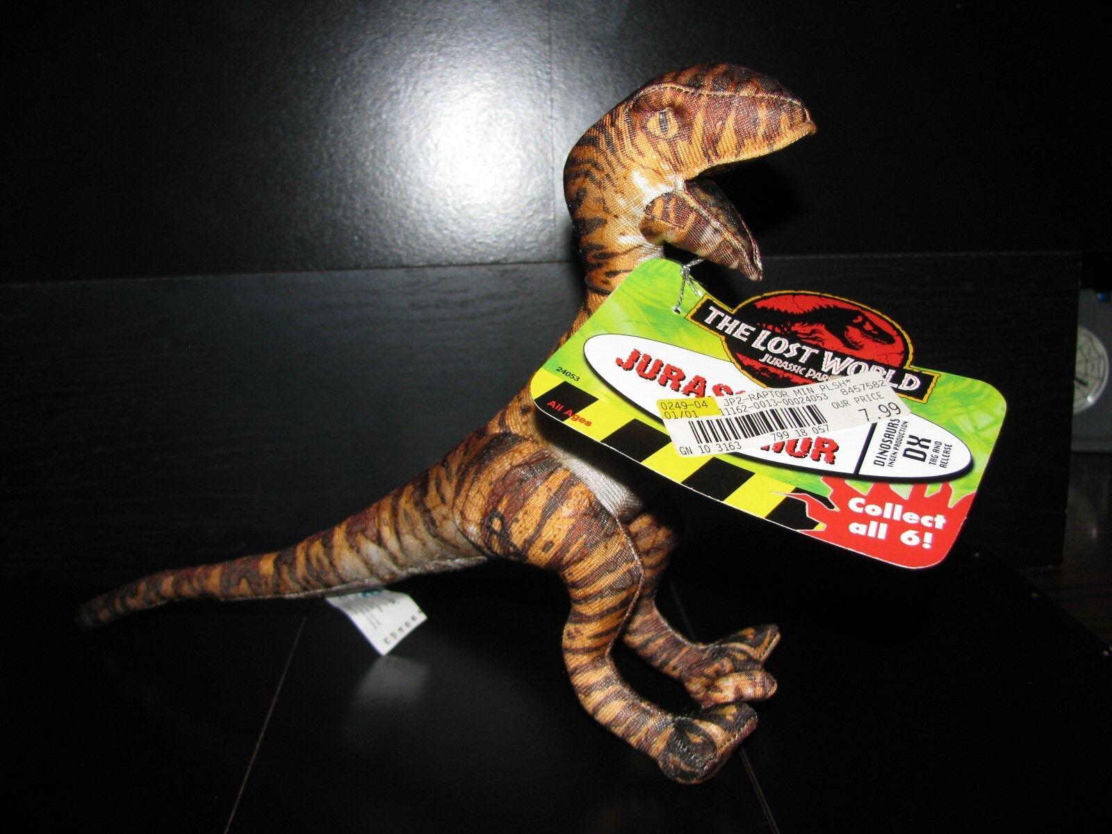 barato Raro-Jurassic Park Perdido Mundo-Raptor Peluche    1997 totalmente totalmente totalmente nuevo con etiquetas     grandes precios de descuento
