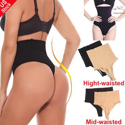 Women Waist Cincher Girdle Tummy Control Thong Panty Slimmer Body Shaper Shorts