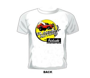 Vintage GASSER//DRAG//NASCAR//SPRINT// RACE T-shirt FAIRBANKS CONVERTERS SLINGSHOT