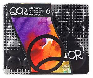 Golden-QoR-Artist-Watercolour-Paint-Set-High-Chroma-6-x-5-ml-Tubes
