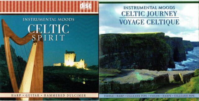 2 CD - Celtic Journey Irish Spirit Instrumental Music Harp Violin Pipe  Dulcimer