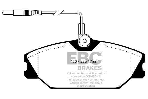 Ebc Ultimax Front Brake Pads For Renault Laguna Saloon 1 8 00 98