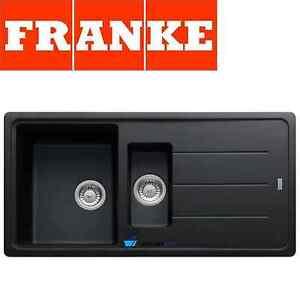 FRANKE BASIS BLACK ONYX FRAGRANITE 1.5 BOWL SQUARE KITCHEN SINK ...