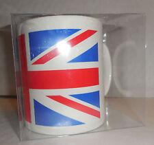 BSA/CLASSIC BIKE UNION JACK COFFEE MUG WHITE WITH FLAG